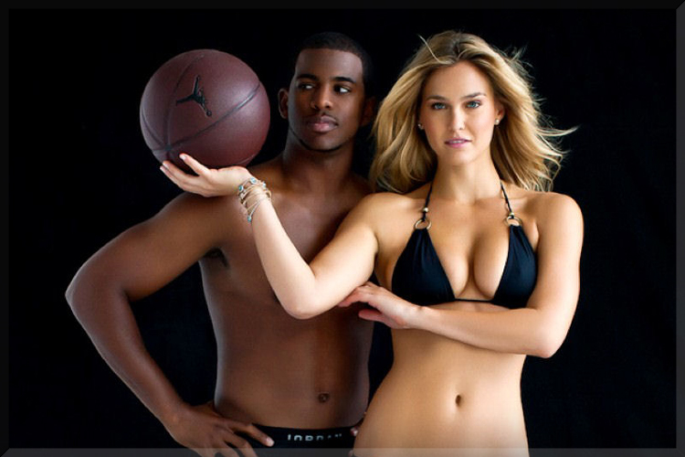 basketball bar refaeli chris paul balls nike air jordan sports illustrated hot sexy swimsuit swinger shoot score win edition model play sport ball hand