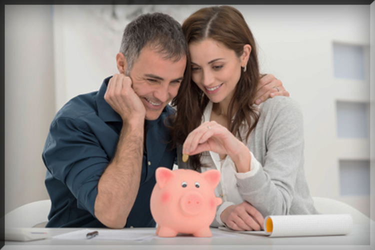 money finance relationship dating marriage spending saving invest investment stocks wall street couple piggy bank coins